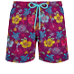 Men Classic Embroidered - Men Swim Trunks Embroidered Tropical turtles - Limited Edition, Kerala front