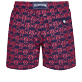 Men Classic Embroidered - Men Swim Trunks Embroidered Hippocampes - Limited Edition, Midnight blue back