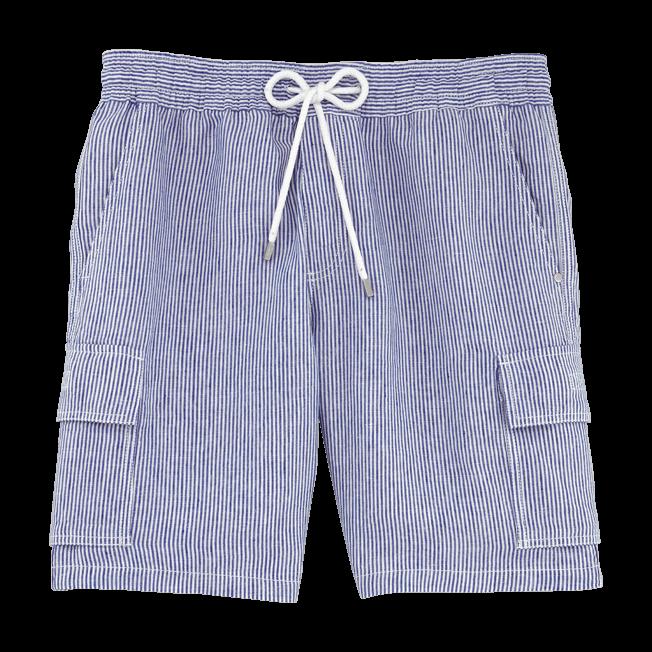 Vilebrequin - Stripped Linen bermuda shorts - 1