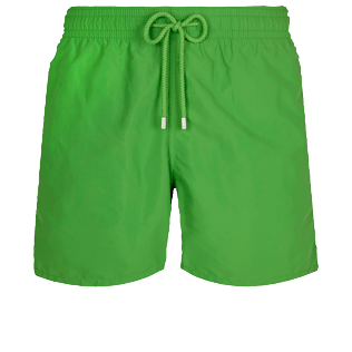 Men Classic Solid - Men Swim Trunks Solid, Grass green front