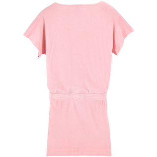 Women Dresses Solid - Solid Terry Tee Shirt dress, Peony back