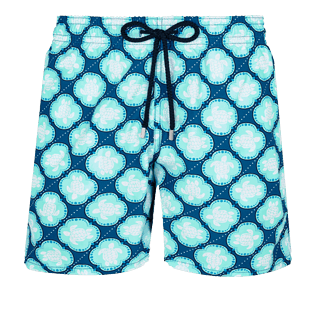 Men Classic Printed - Men Swim Trunks Wax Turtles, Acqua front