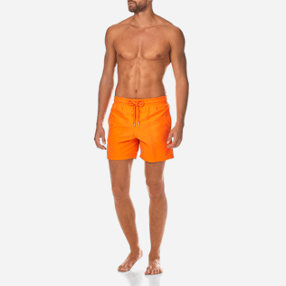 Men Classic / Moorea Printed - Water-reactive Danse du feu Swim shorts, Papaya frontworn