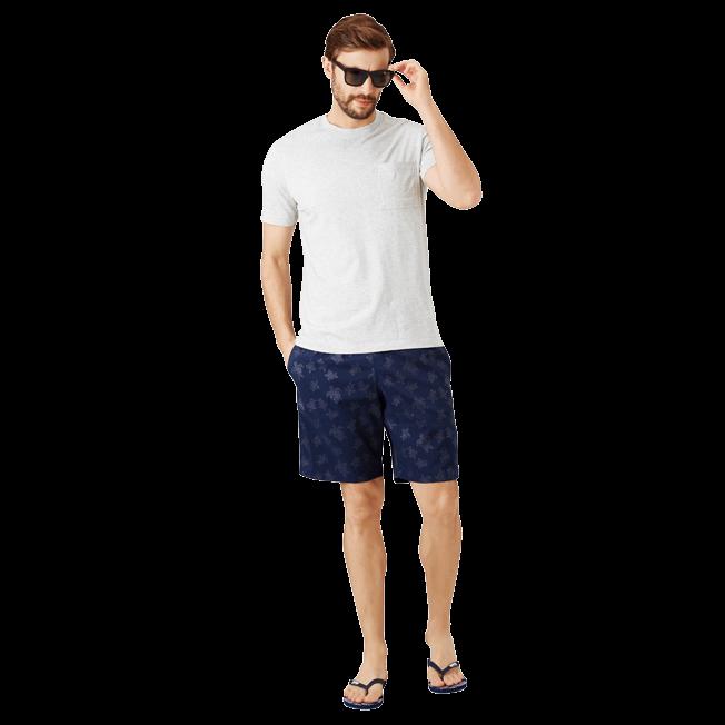 Vilebrequin - Camiseta en punto de algodón Pima liso para hombre - 6