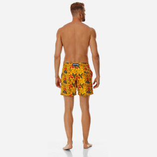 Men 017 Printed - Men Embroidered Swimwear Porto Rico - Limited Edition, Mango backworn