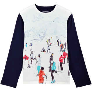 Men Others Printed - Men Long Sleeves T-shirt Massimo Vitali, Sky blue front