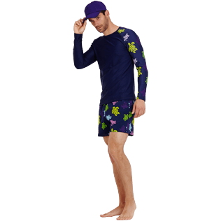 Men Others Printed - Men Rashguard Ronde des tortues, Navy supp2
