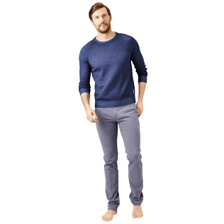Men Others Solid - Men Wool Crewneck, Navy supp2