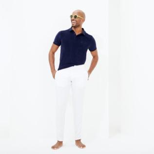 Pantalones De Corte Recto En Lino De Color Liso Para Hombre Sitio Web De Vilebrequin Pahe9u01