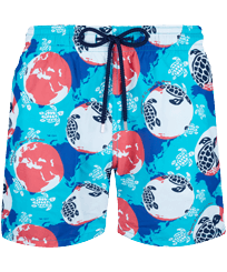 Men Classic Printed - Men Swim Trunks Mappemonde Dots 360 printed, Light azure front