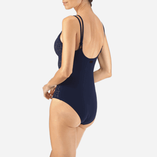 Women One Piece Lazercut - Micro Ronde des Tortues One piece, Navy supp2