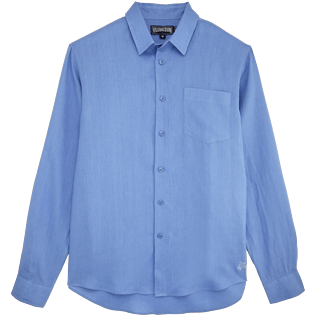 Men Others Solid - Men Linen Shirt Solid, Lavander front