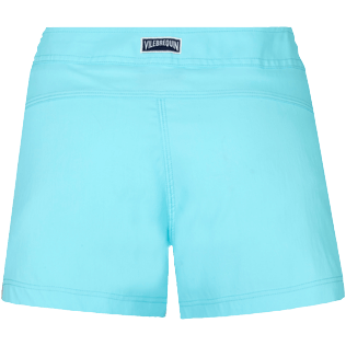 Damen Andere Uni - Solid Stretch-Badeshorts für Damen, Lazulii blue back