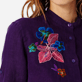 Women Others Embroidered - Women stand-up collar embroidered Linen Long Shirt Porto Rico, Reddish purple supp1