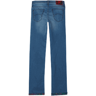 Hombre Autros Estampado - Men Jeans Tropical Turtles, Med denim w2 back