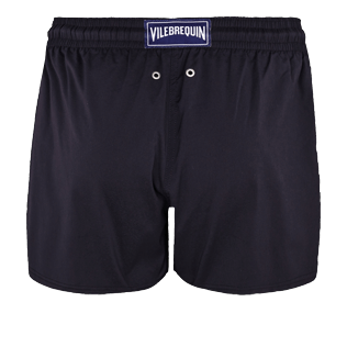 Men Short classic Solid - Men Swim Trunks Short and Fitted Stretch Solid, Black back