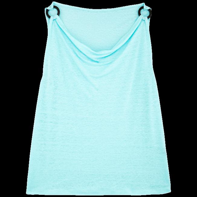 Vilebrequin - Women Cowl neck Linen Jersey Top Solid - 1
