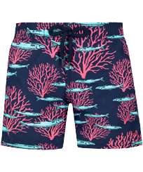 Boys Others Printed - Boys Swim Trunks Coral & Fish, Navy front