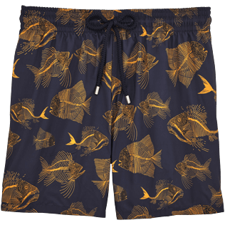 Men Ultra-light classique Printed - Prehistoric Fish Lightweight Packable Swim shorts, Navy front