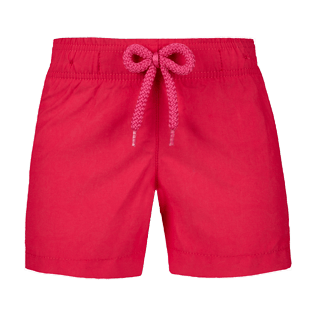 Girls Others Printed - Girls Water-reactive Swim Short 18.7 Tulum, Gooseberry red front