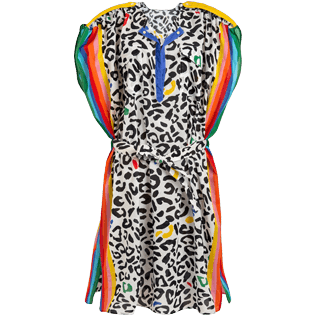 Women Others Printed - Women Cover-up Leopard and Rainbow - Vilebrequin x JCC+ - Limited Edition, White front