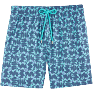 Men Classic / Moorea Printed - Sashimi Check Fishes Lightweight Swimwear, Lagoon front