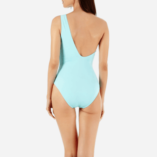 Women One piece Solid - Women Asymmetric One Piece Swimsuit Solid Water, Lagoon supp2