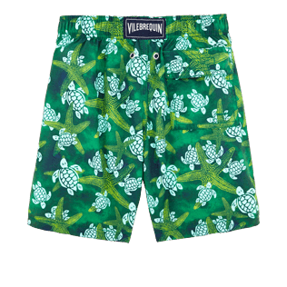 Boys Others Printed - Boys Swimtrunks Starlettes & Turtles Vintage, Malachite green back