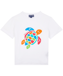 Boys Others Printed - Boys Organic Cotton T-shirt Tortue Multicolore, White front