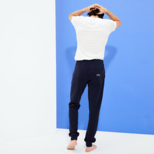 Uomo Altri Unita - Men Jogging Cotton Pants, Blu marine backworn