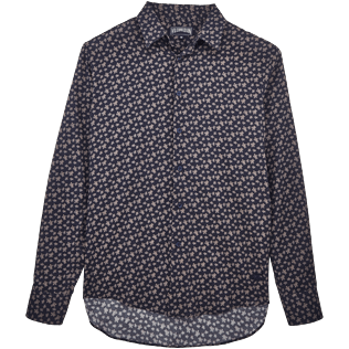 Others Printed - Micro Ronde des Tortues Cotton veil shirt, Navy front