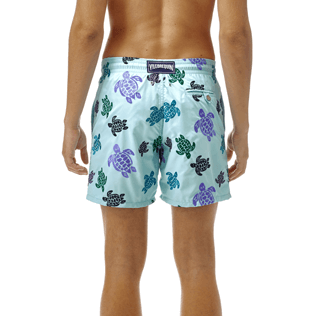 Homme Classique Moorea Brodé - Maillot de bain Mistral Broderie Tortues Multicolores All Over, Lagon supp3