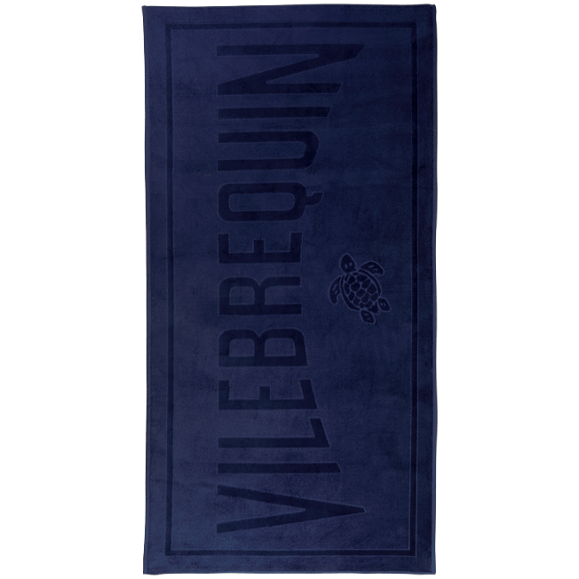 Vilebrequin - Beach Towel in Terry Cloth Solid Jacquard - 1