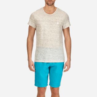 Men Tee-Shirts Solid - Men Linen Jersey T-shirt Solid, Heather grey supp1