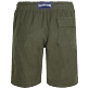Men Others Solid - Men Linen Bermuda Shorts Solid, Pepper back