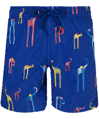男童 Others 绣 - Boys Swimwear Embroidered Giaco Elephant, Batik blue front