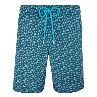 Men Long classic Printed - Men Long Swimtrunks Micro ronde des tortues, Spray front