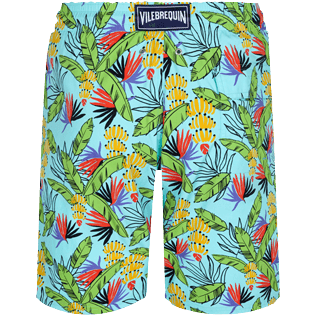 Hombre Clásico largon Estampado - Men Swimwear Long Go Bananas, Lazulii blue back