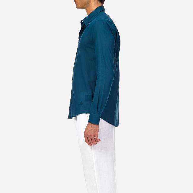 Vilebrequin - Camisa en gasa de algodón con estampado liso unisex - 7