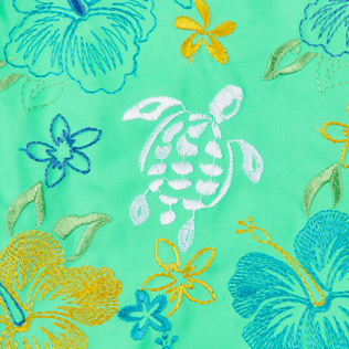 Men Classic Embroidered - Men Swimwear Embroidered Tropical turtles - Limited Edition, Cardamom supp3