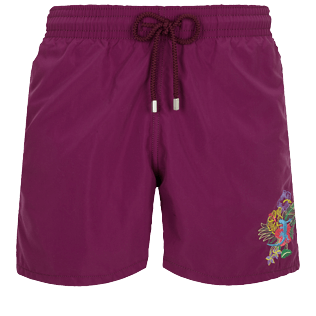 Men Classic Embroidered - Men Swimwear Placed embroidery Les Geckos, Kerala front