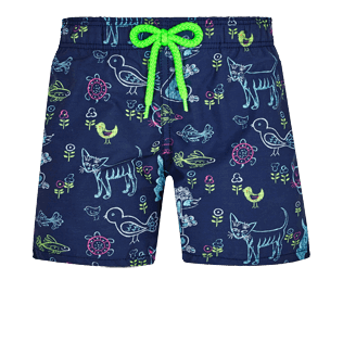 Boys Others Printed - Boys Swimwear Rabbits and Poodles - Florence Broadhurst Father's Day, Navy front