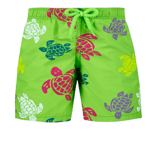 Boys Others Printed - Boys swimtrunks Tortues Multicolores, Grass green front