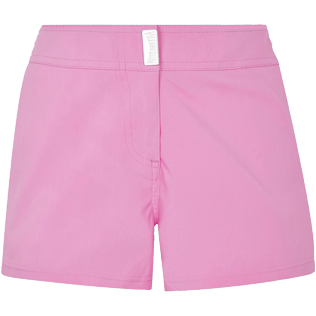 Women Others Solid - Women Stretch swim short Solid, Petunia front