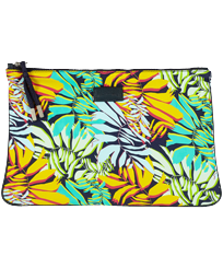 Autros Estampado - Zipped Beach Pouch Jungle, Midnight blue front