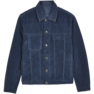 Men Others Solid - Men Cotton Solid Jacket, Navy front