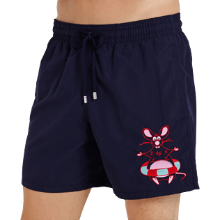 Men Classic Embroidered - Men Swimtrunks Placed embroidery The Year Of The Rat, Navy supp1