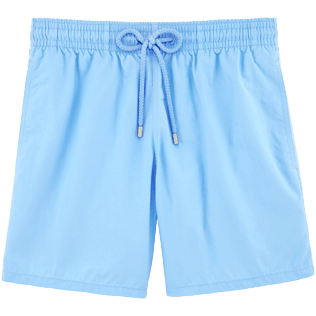 Men Classic Solid - Men Swimwear Solid, Sky blue front