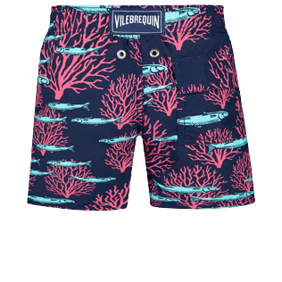 Boys Others Printed - Boys Swimwear Coral & Fish, Navy back