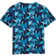 Tee-Shirts Printed - Camouflage Turtles Round neck T-Shirt, Azure back